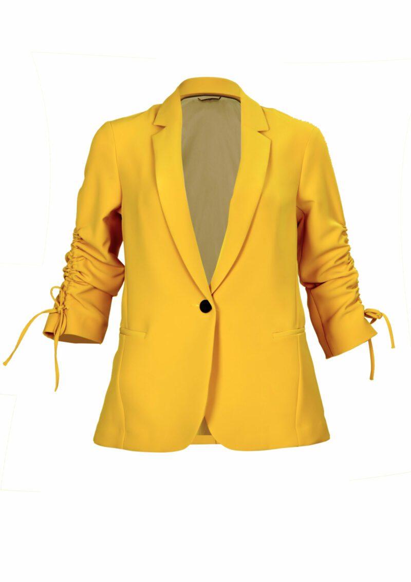 Áo jacket cho nữ màu vàng